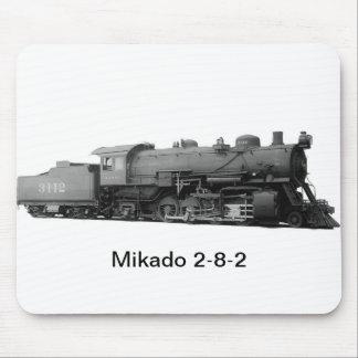 Mikado 2-8-2 Vintage Steam Engine Train Mouse Pad