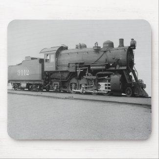 Mikado 2-8-2 Vintage Steam Engine Train mousepad