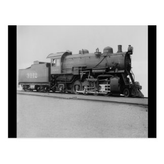 Mikado 2-8-2 Vintage Steam Engine Train Postcard