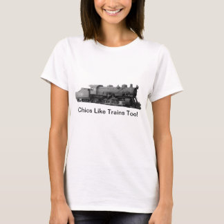 Mikado 2-8-2 Vintage Steam Engine Train T-Shirt