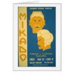 Mikado Gilbert Sullivan 1939 WPA Card