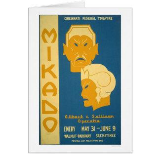 Mikado Gilbert Sullivan 1939 WPA Greeting Card