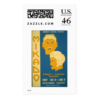 Mikado Gilbert Sullivan 1939 WPA Postage Stamp