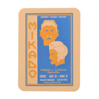 Mikado Gilbert & Sullivan operetta Rectangular Photo Magnet