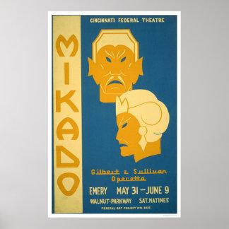 Mikado Gilbert Sullivan WPA 1939 Poster