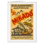 Mikado Philarmonic 1938 WPA Greeting Card