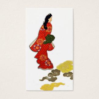 Mikaeri Bijin in Kimono Business Card