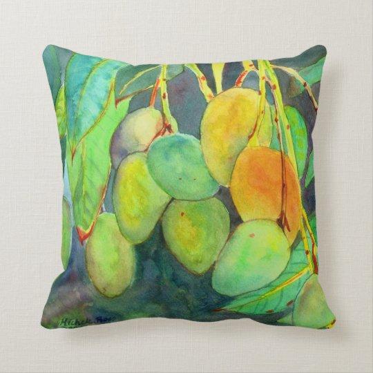 Mikala's Fresh Mangos Throw Pillow