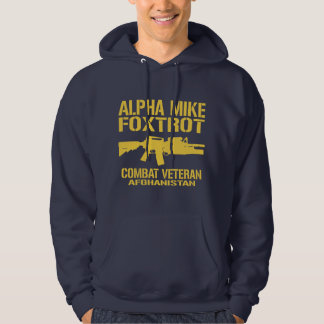Mike alfa Foxtrot - veterano de Afganistán Sudadera Con Capucha