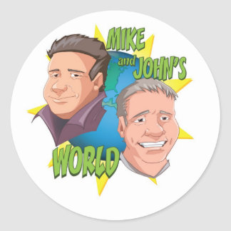 Mike and Johns World Classic Round Sticker