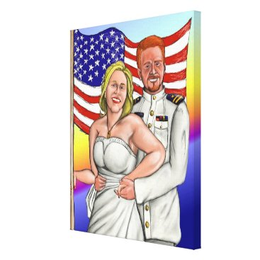Mike and Lisa's Wedding (On Canvas) Canvas Print