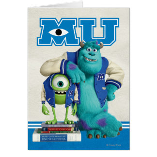 Mike and Sulley MU Greeting Cards