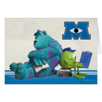 Mike and Sulley Reading Greeting Card