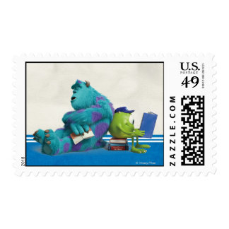 Mike and Sulley Reading Stamp