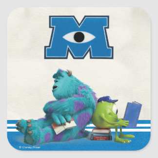 Mike and Sulley Reading Square Sticker