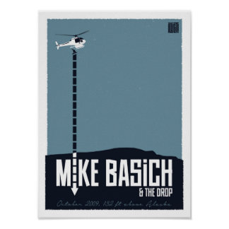 Mike Basich Heli Drop Poster