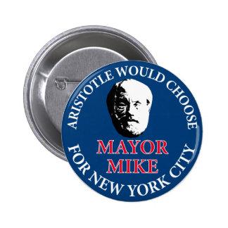 Mike Bloomberg para el alcalde Pin Redondo De 2 Pulgadas