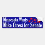 Mike Ciresi for Senate Car Bumper Sticker
