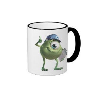 Mike de los monstruos inc. con el tablero taza de dos colores