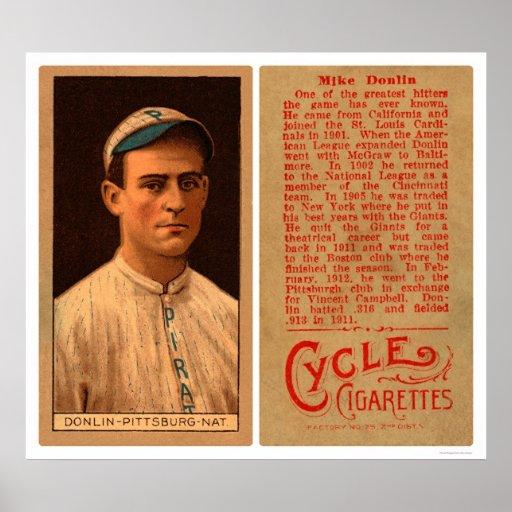 Mike Donlin Pirates Baseball 1912 Print