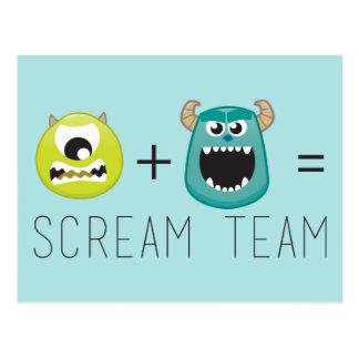 Mike+Equipo de Sulley=Scream Postal