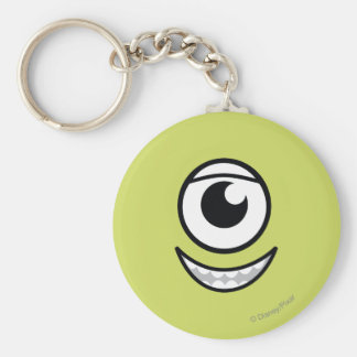 Mike Face Basic Round Button Keychain