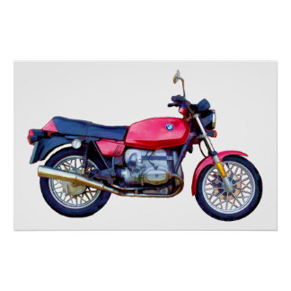 Mike Garrett Motorcycle Poster