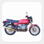Mike Garrett Motorcycle Square Sticker