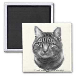 Mike, gato de tigre imán de frigorífico