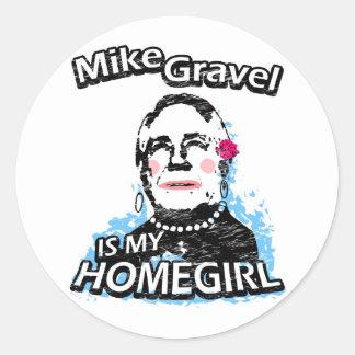 Mike Gravel is my homegirl Classic Round Sticker