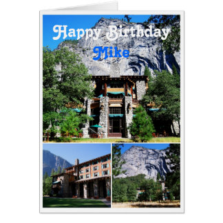 Mike Happy Birthday Ahwahnee Hotel Yosemite Card