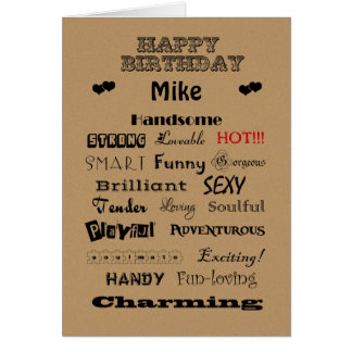 Mike Happy Birthday Words of Praise Card