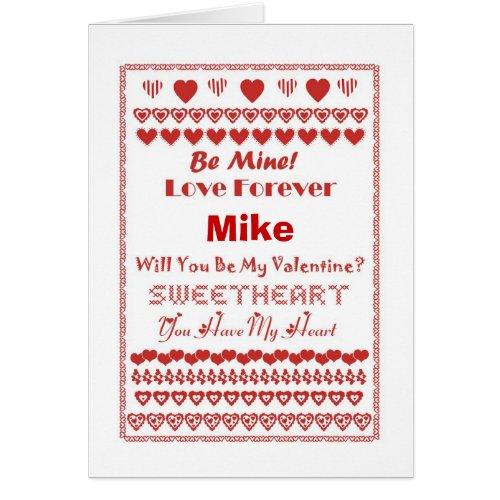 Mike Happy Valentine's Day Hearts Hearts Hearts