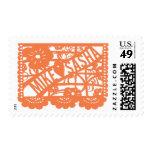 Mike Hearts Sasha Papel Picado Postage Stamp