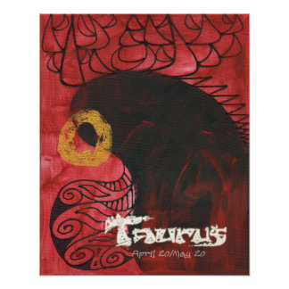 Mike Hoffman Astrology Zodiac Art TAURUS THE BULL Posters