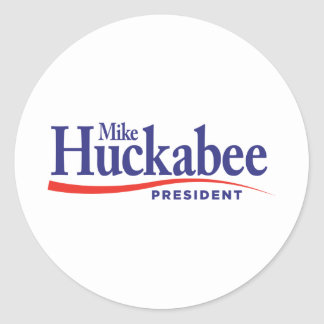 Mike Huckabbe for President Classic Round Sticker
