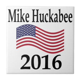 Mike Huckabee 2016 Small Square Tile