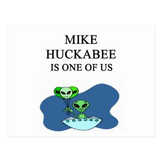mike huckabee alien postcard