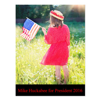 Mike Huckabee for President 2016 Postcard