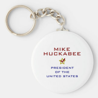 Mike Huckabee for President V2 USA Basic Round Button Keychain