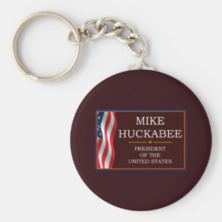 Mike Huckabee for President V3 Basic Round Button Keychain