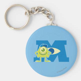 Mike M Logo Basic Round Button Keychain
