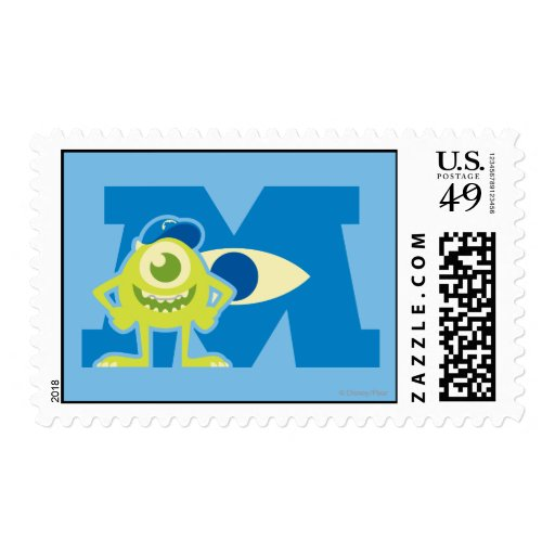 Mike M Logo Postage Stamp