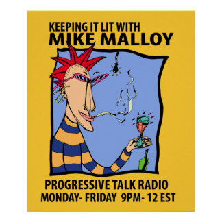MIKE MALLOY RADIO SHOW POSTER