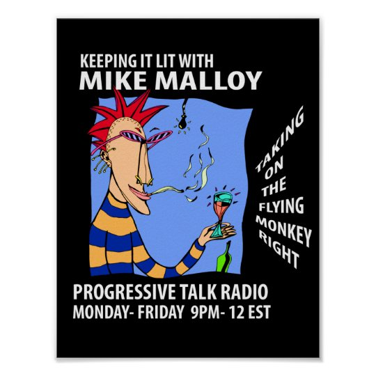 MIKE MALLOY RADIO SHOW POSTER SMALL