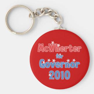 Mike McWherter for Governor 2010 Star Design Keychain