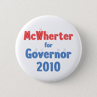 Mike McWherter for Governor 2010 Star Design Pinback Button