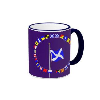 """Mike """"mi buque es"""" bandera de señal náutica parada taza de café"""