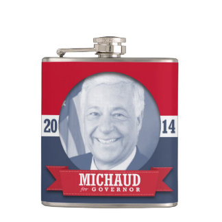 MIKE MICHAUD CAMPAIGN FLASKS
