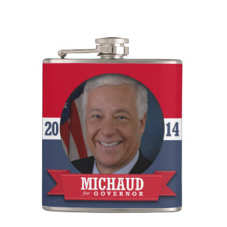 MIKE MICHAUD CAMPAIGN HIP FLASK